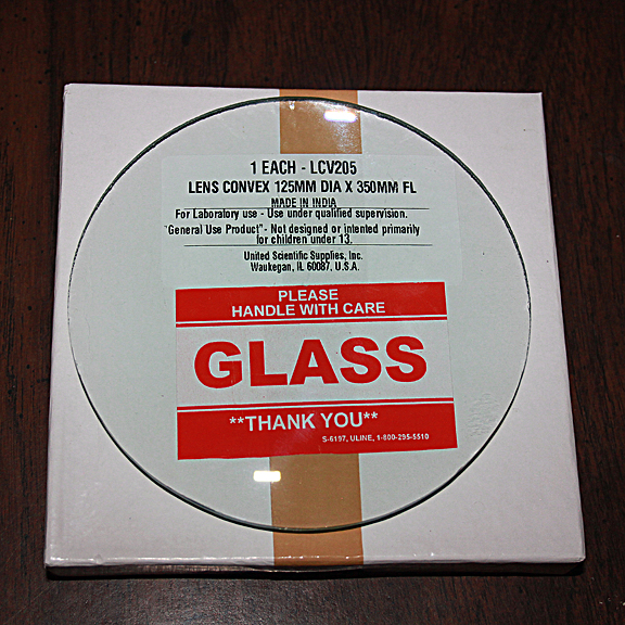 5 inch Double Convex Glass Lens