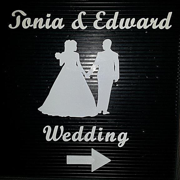 Wedding Letter Board